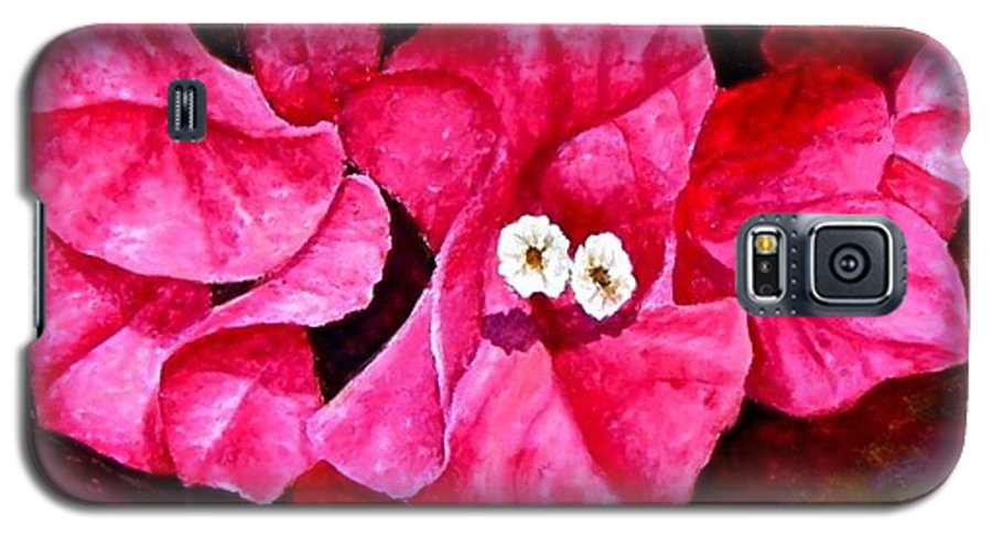 Oil Galaxy S5 Case featuring the painting Hot Pink Bougainvillea by Darla Brock