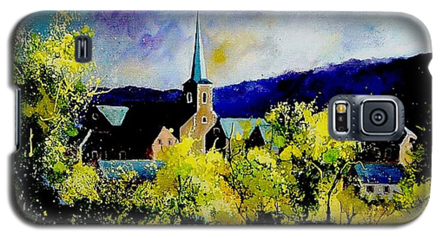 Poppies Galaxy S5 Case featuring the painting Hour Village Belgium by Pol Ledent