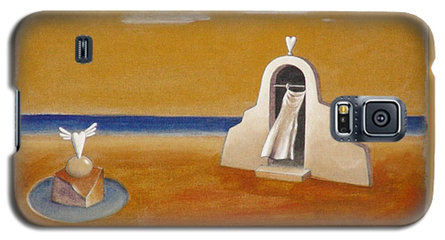 Chirico Galaxy S5 Case featuring the painting House Of Eros by Dimitris Milionis