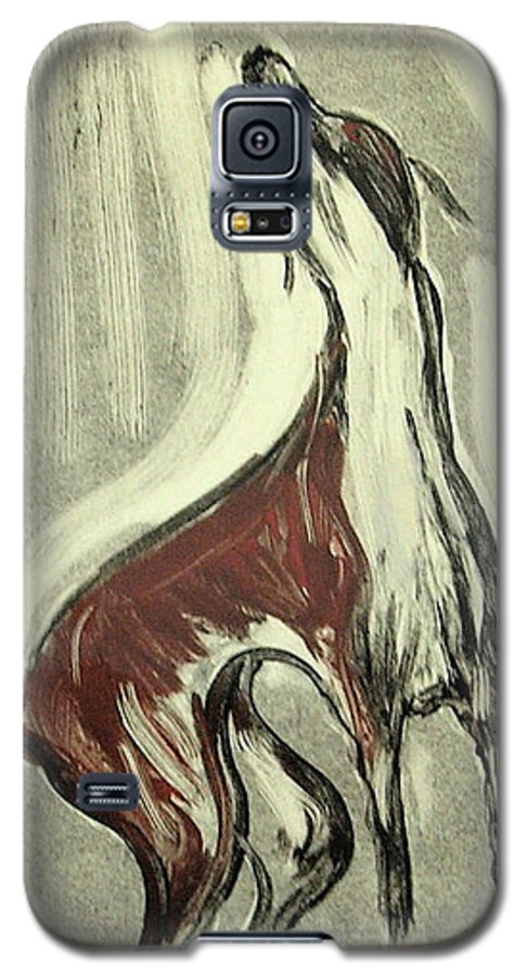 Monotype Galaxy S5 Case featuring the mixed media Howling For Joy by Cori Solomon