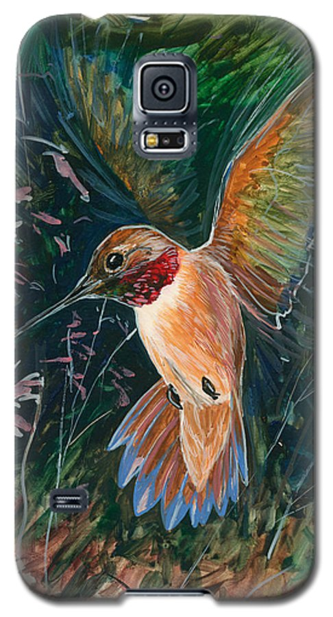 Hummingbird Galaxy S5 Case featuring the painting Hummingbird by Shari Erickson