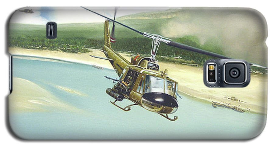 Military Galaxy S5 Case featuring the painting Hunter Hueys by Marc Stewart