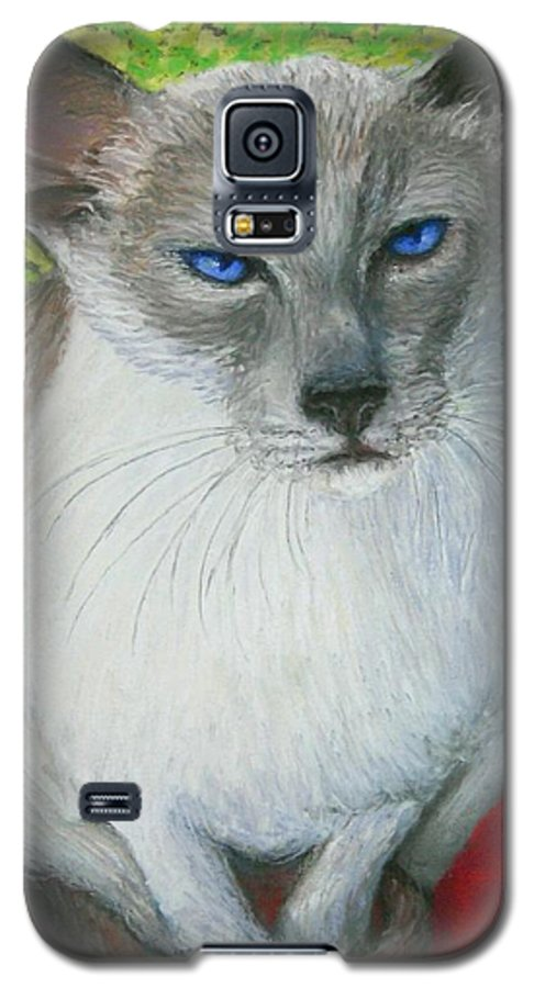 Siamese Galaxy S5 Case featuring the painting I Am Siamese If You Please by Minaz Jantz