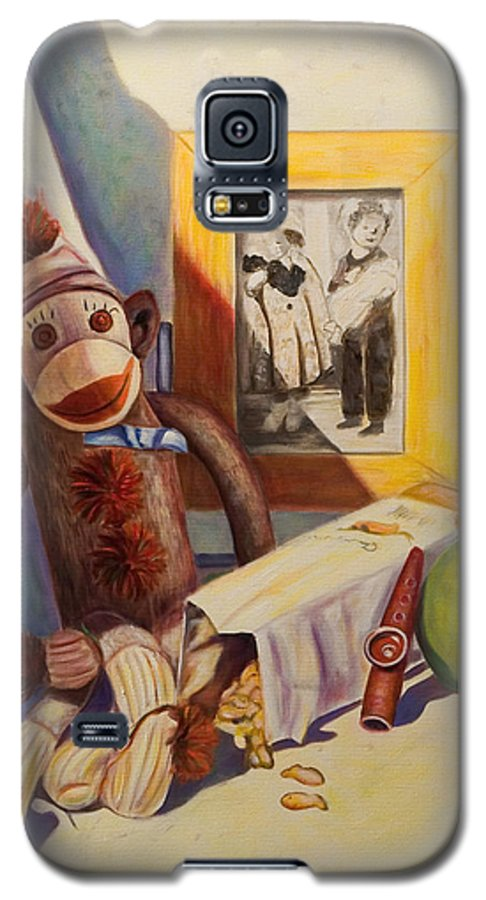 Children Galaxy S5 Case featuring the painting I Will Remember You by Shannon Grissom