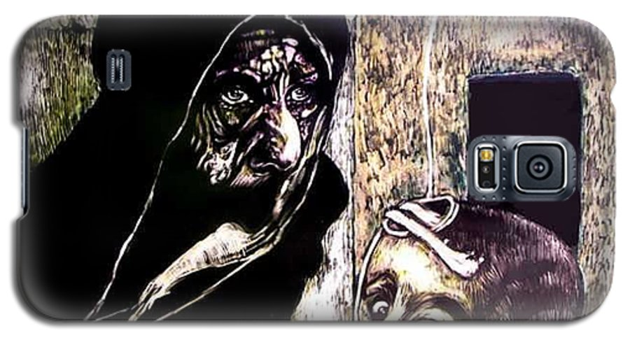 Darfur Galaxy S5 Case featuring the mixed media Ibhabitants Of The Precipice by Chester Elmore
