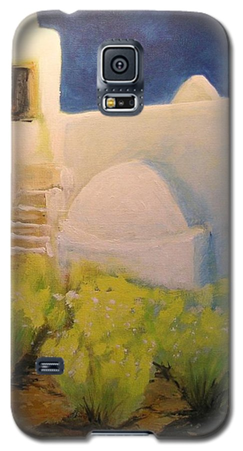 Landscape Galaxy S5 Case featuring the painting Ibicencan Country House by Lizzy Forrester