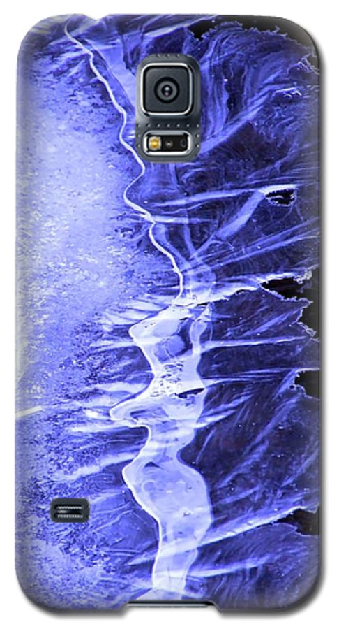 Ice Galaxy S5 Case featuring the photograph Blue Ice by Tiffany Vest