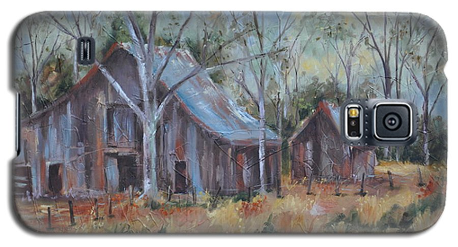Barns Galaxy S5 Case featuring the painting If They Could Speak by Ginger Concepcion