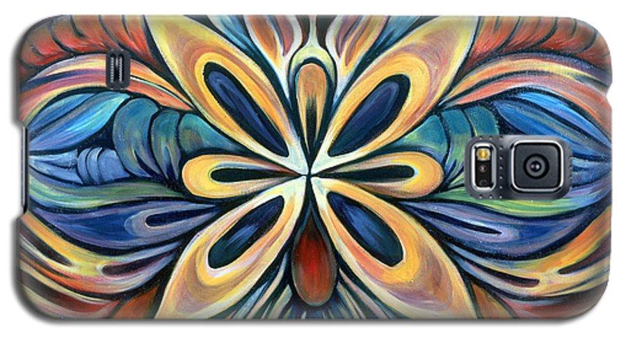 Mandala Galaxy S5 Case featuring the painting Illumination by Shadia Derbyshire