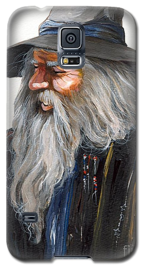 Fantasy Art Galaxy S5 Case featuring the painting Impressionist Wizard by J W Baker