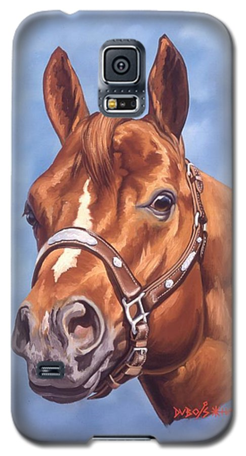 Quarter Horse Galaxy S5 Case featuring the painting Impressive by Howard Dubois