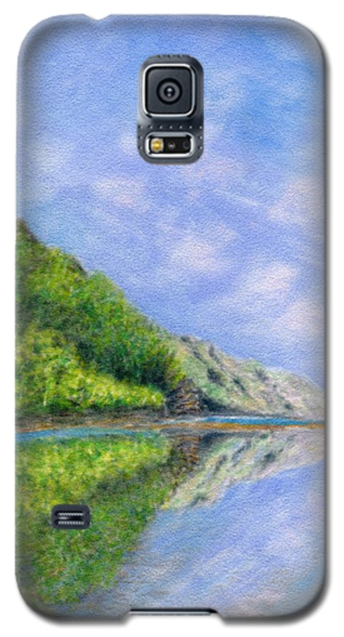 Rainbow Colors Pastel Galaxy S5 Case featuring the painting In Reflection by Kenneth Grzesik