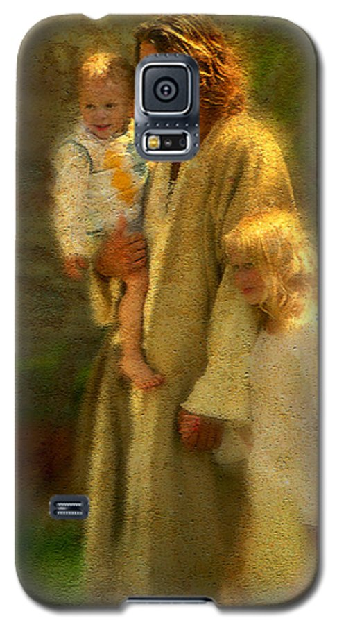 Jesus Galaxy S5 Case featuring the painting In The Arms Of His Love by Greg Olsen