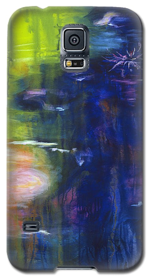 Abstract Galaxy S5 Case featuring the painting In The Flow by Tara Moorman