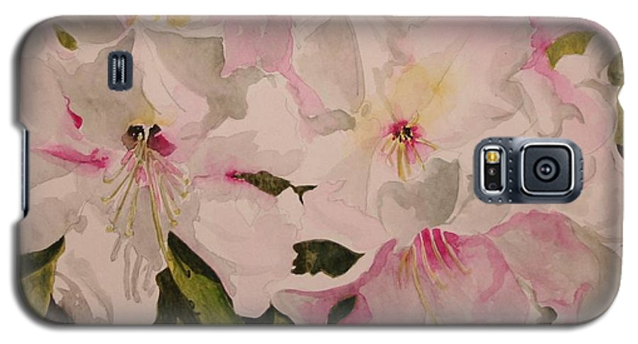 Pink Galaxy S5 Case featuring the painting In The Pink by Jean Blackmer