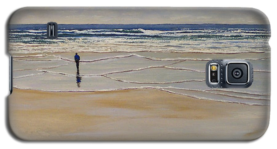 Beach Walk Galaxy S5 Case featuring the painting Incoming Tide by Frank Wilson