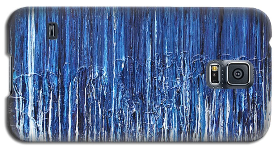 Fusionart Galaxy S5 Case featuring the painting Indigo Soul by Ralph White
