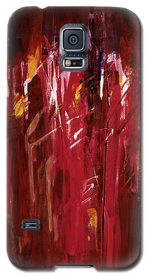 Abstract Galaxy S5 Case featuring the painting Initiation by Tara Moorman