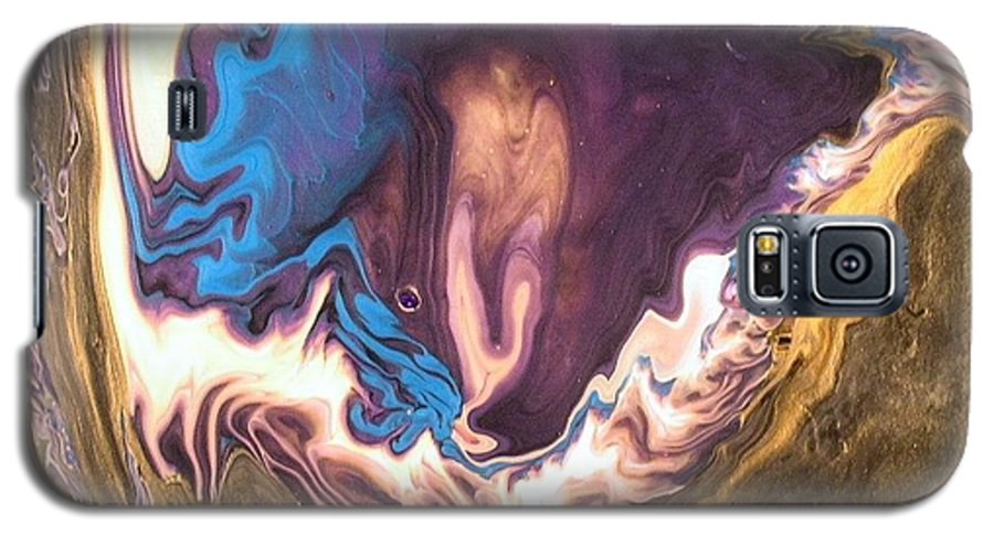 Abstract Galaxy S5 Case featuring the painting Inner Flame by Patrick Mock