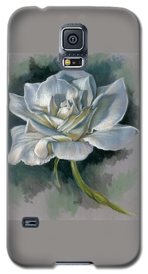 Rose Galaxy S5 Case featuring the mixed media Innocence by Barbara Keith