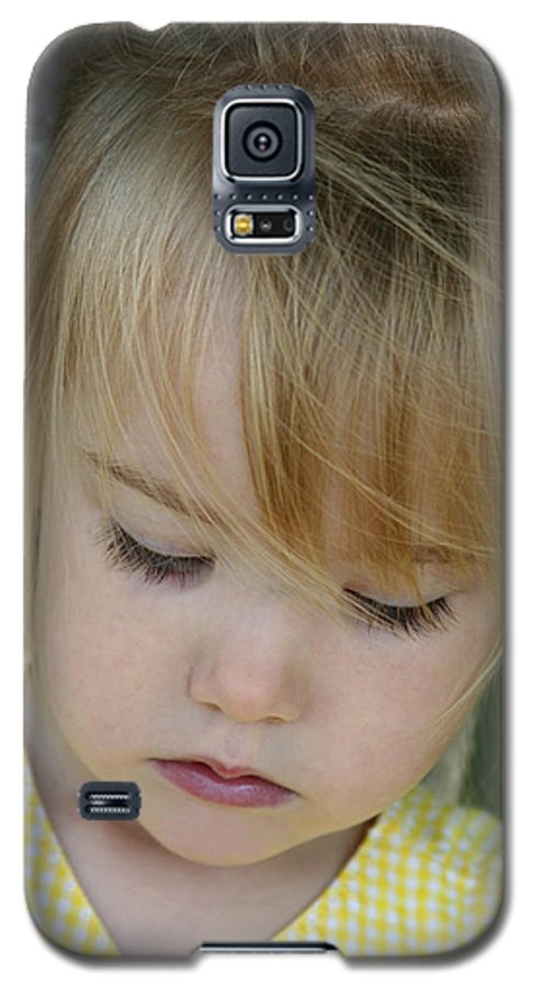 Angelic Galaxy S5 Case featuring the photograph Innocence II by Margie Wildblood