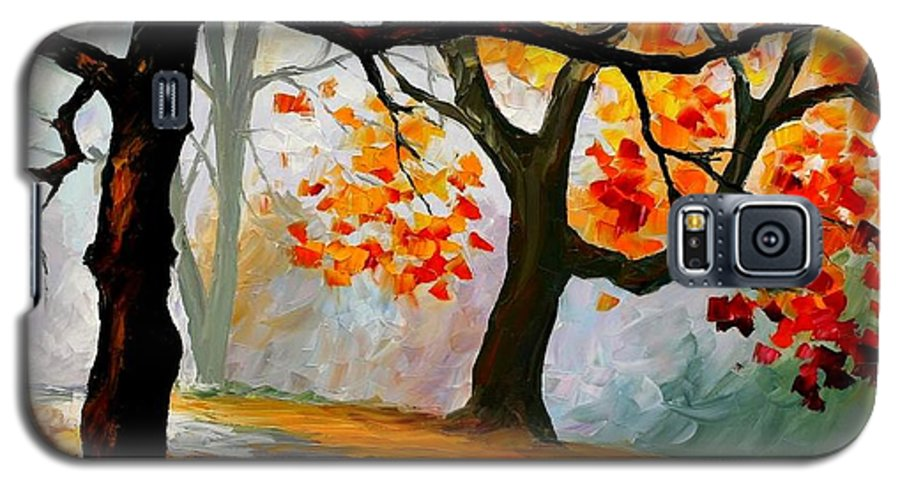 Landscape Galaxy S5 Case featuring the painting Interplacement by Leonid Afremov