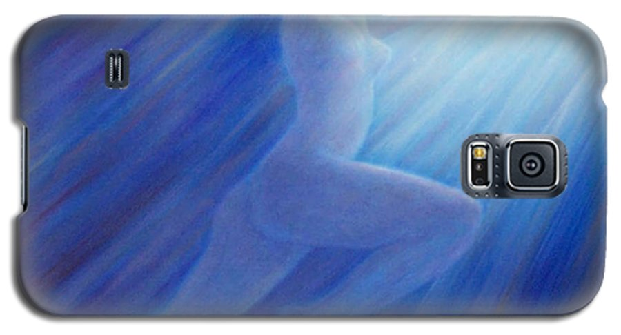 Spiritual Galaxy S5 Case featuring the painting Into The Light by Brian Commerford