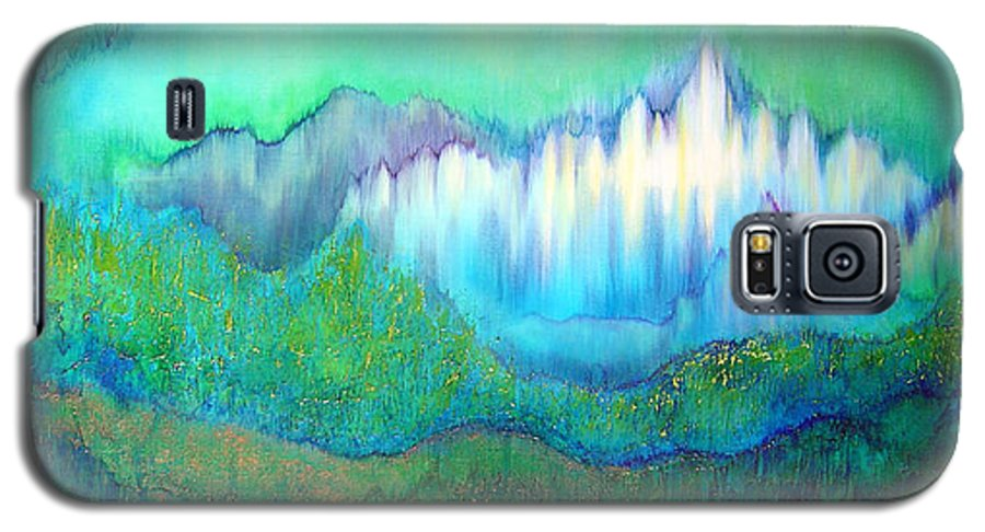 Blue Galaxy S5 Case featuring the painting Into The Ocean by Shadia Derbyshire