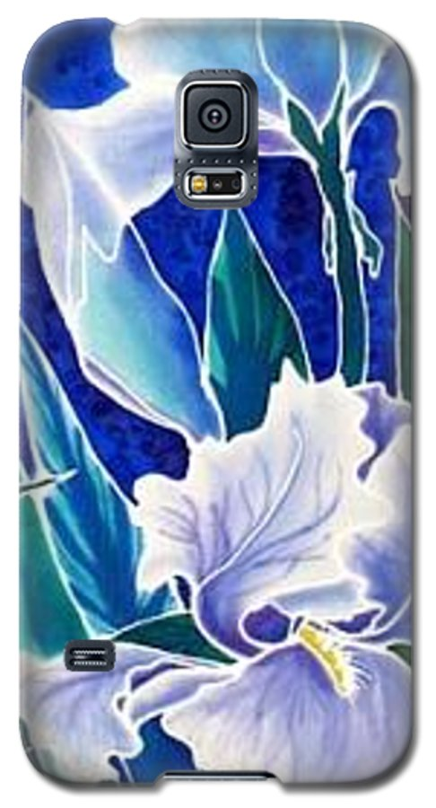Iris Galaxy S5 Case featuring the painting Iris by Francine Dufour Jones