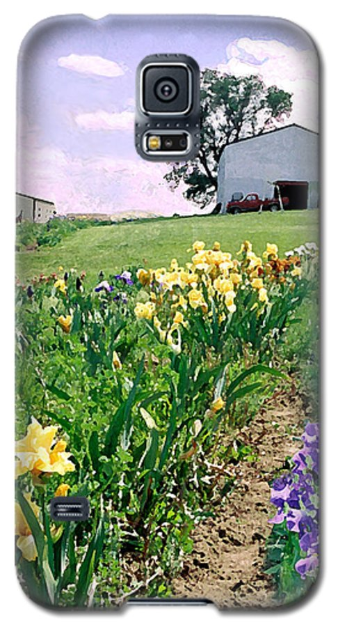 Landscape Painting Galaxy S5 Case featuring the photograph Iris Farm by Steve Karol
