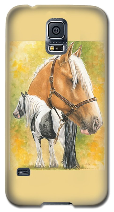 Draft Horse Galaxy S5 Case featuring the mixed media Irish Cob by Barbara Keith