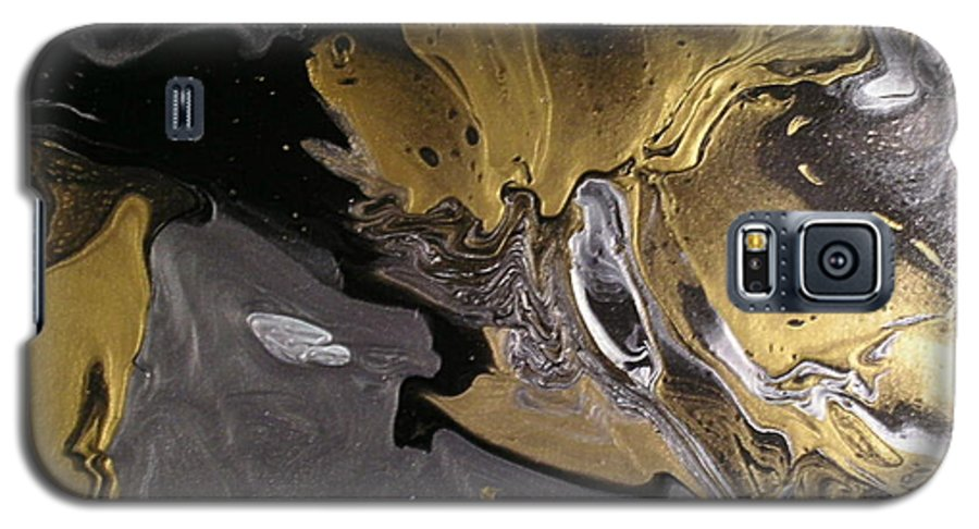 Abstract Galaxy S5 Case featuring the painting Is It A Crime by Patrick Mock