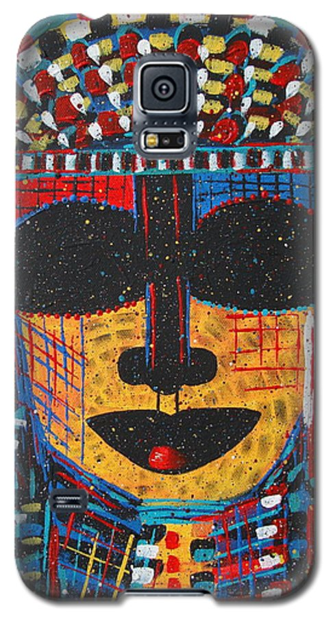 Abstract Galaxy S5 Case featuring the painting Isatoria by Natalie Holland