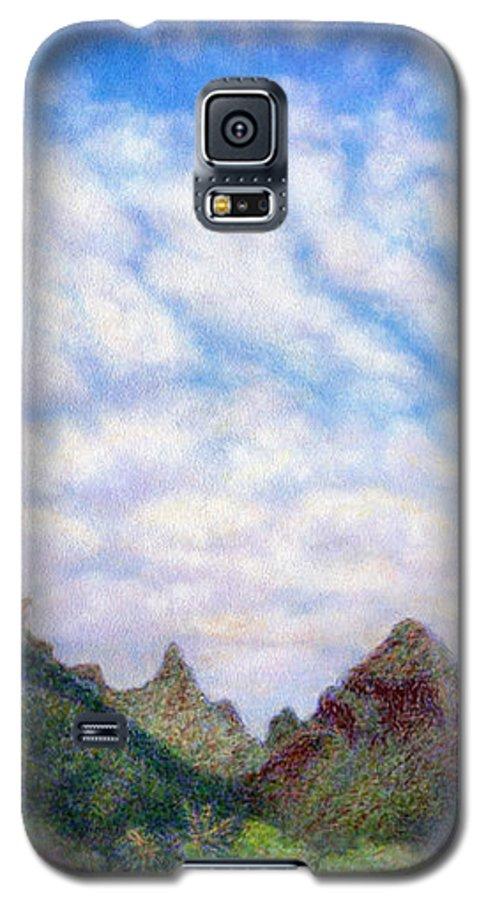 Coastal Decor Galaxy S5 Case featuring the painting Island Sky by Kenneth Grzesik