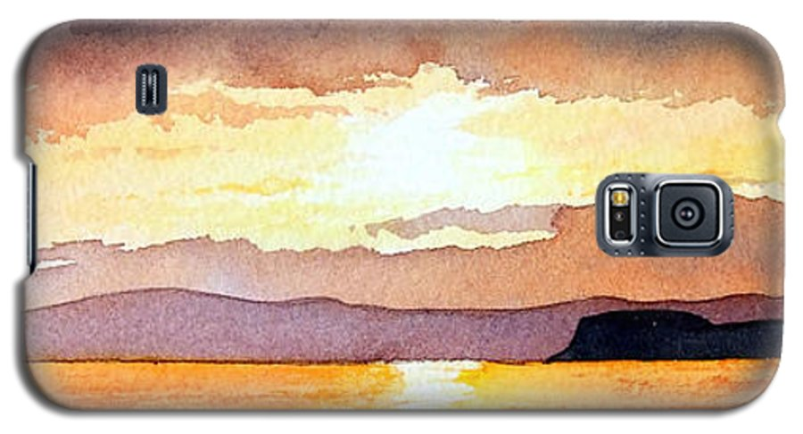 Seascape Galaxy S5 Case featuring the painting Islay And Cara From Kintyre Scotland by Paul Dene Marlor