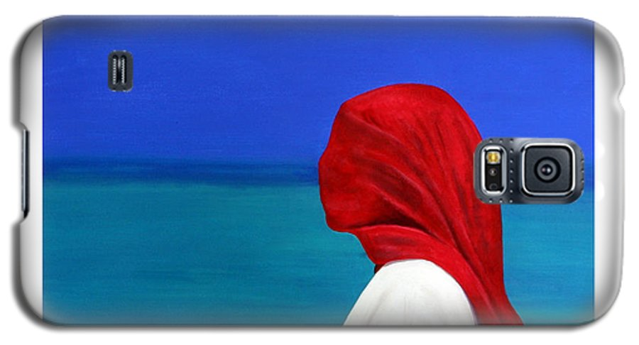 Red Galaxy S5 Case featuring the painting It Could Be You by Fiona Jack