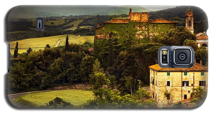 Italy Galaxy S5 Case featuring the photograph Italian Castle And Landscape by Marilyn Hunt