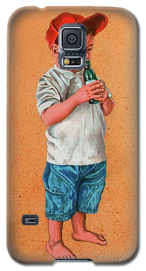 Summer Galaxy S5 Case featuring the painting It's A Hot Day - Es Un Dia Caliente by Rezzan Erguvan-Onal