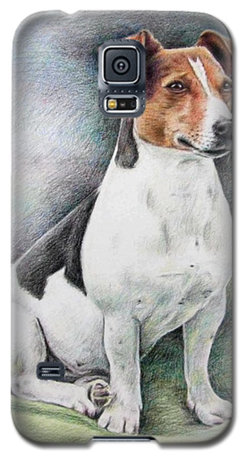 Dog Galaxy S5 Case featuring the drawing Jack Russell Terrier by Nicole Zeug