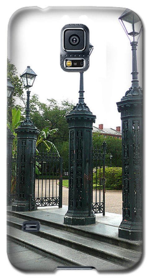 Jackson Square Galaxy S5 Case featuring the photograph Jackson Square by Kathy Schumann