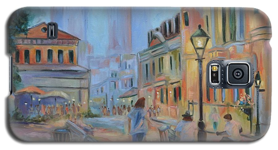 New Orleans Galaxy S5 Case featuring the painting Jackson Square Musicians by Ginger Concepcion