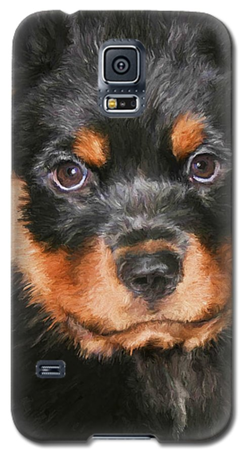 Rottweiler Galaxy S5 Case featuring the painting Jacob by David Wagner