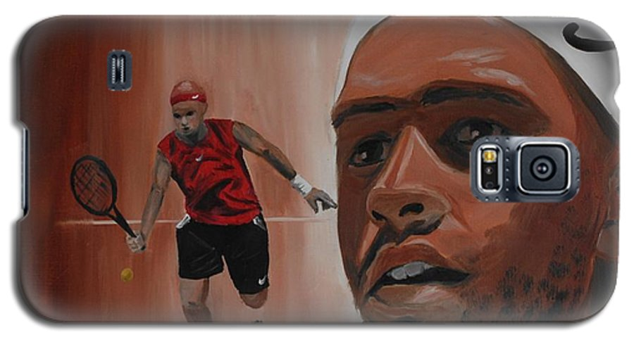 James Galaxy S5 Case featuring the painting James Blake by Quwatha Valentine