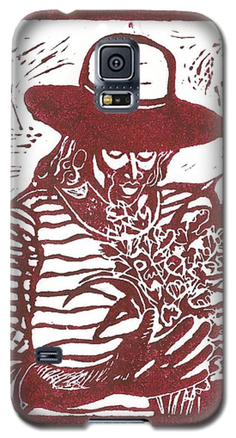 Jannie Galaxy S5 Case featuring the painting Jannie by Everett Spruill