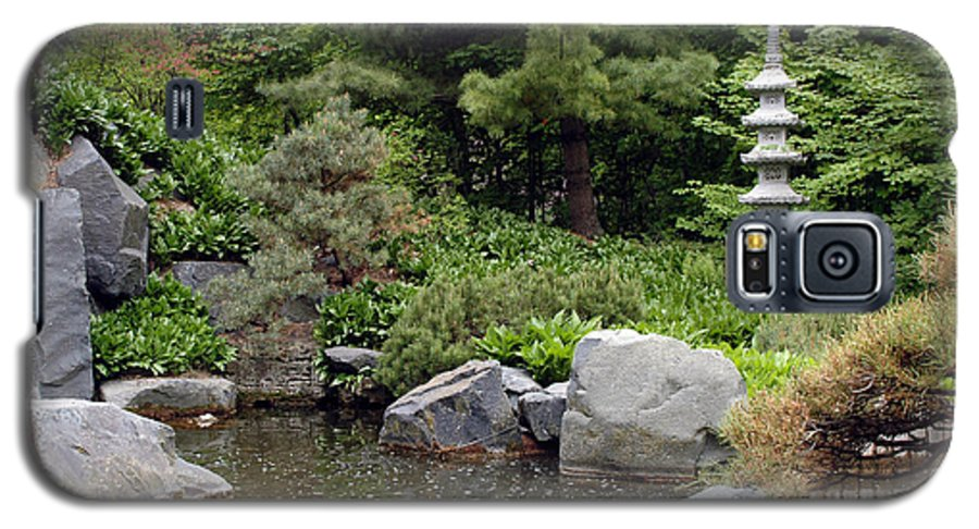Japanese Garden Galaxy S5 Case featuring the photograph Japanese Garden Iv by Kathy Schumann