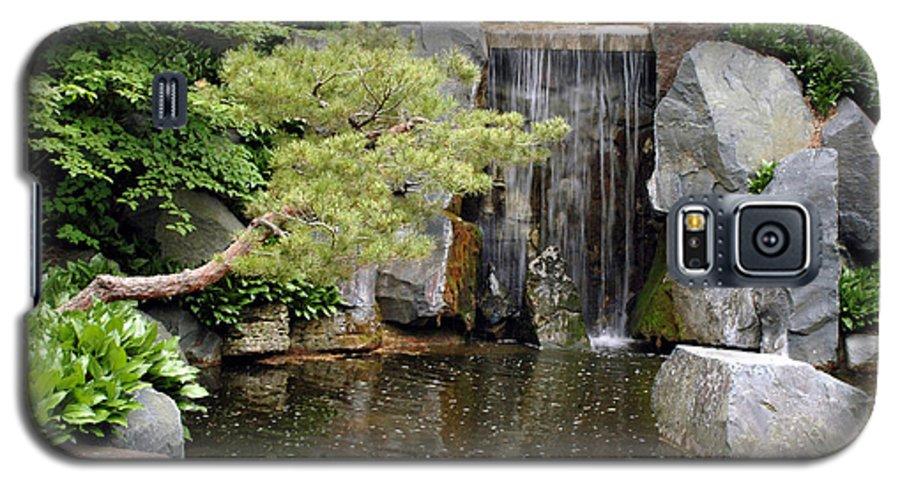Japanese Garden Galaxy S5 Case featuring the photograph Japanese Garden V by Kathy Schumann