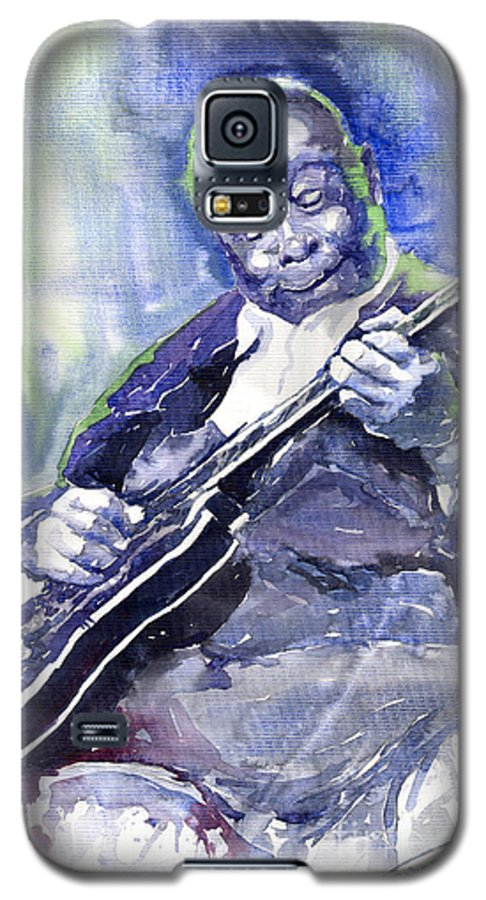 Jazz Galaxy S5 Case featuring the painting Jazz B B King 02 by Yuriy Shevchuk