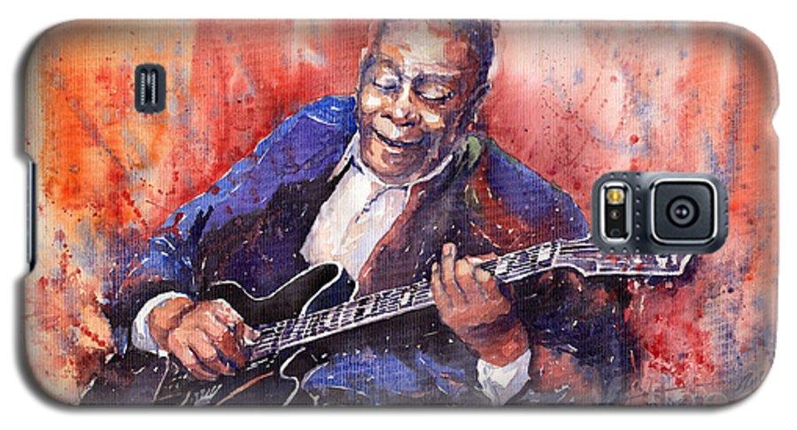 Jazz Galaxy S5 Case featuring the painting Jazz B B King 06 A by Yuriy Shevchuk