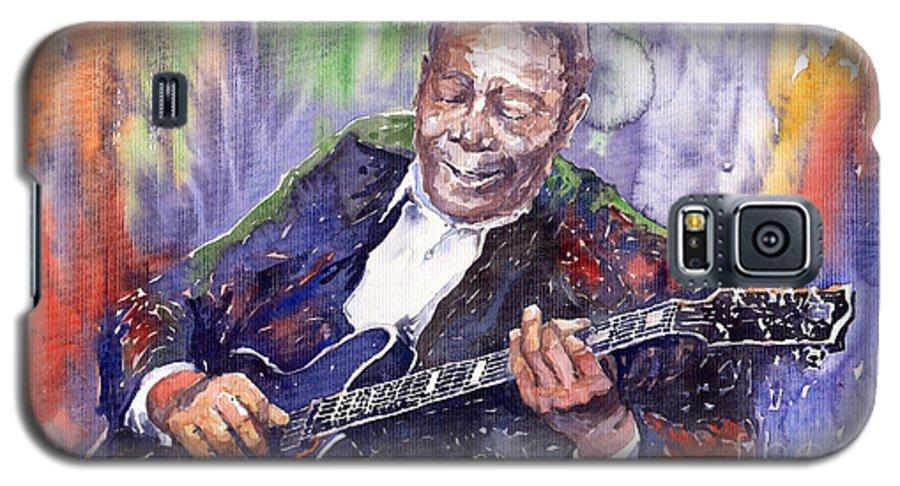 Jazz Galaxy S5 Case featuring the painting Jazz B B King 06 by Yuriy Shevchuk