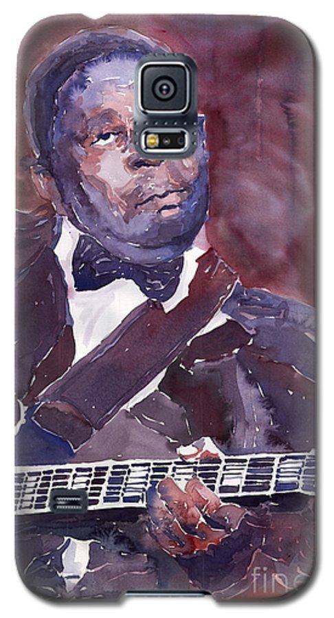 Jazz Bbking Guitarist Blues Portret Figurative Music Galaxy S5 Case featuring the painting Jazz B B King by Yuriy Shevchuk